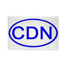 Canada - CDN Oval Rectangle Magnet