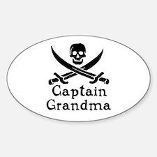 Captain Grandma Sticker (Oval)