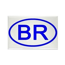 Brazil - BR Oval Rectangle Magnet (10 pack)