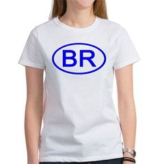 Brazil - BR Oval Women's T-Shirt