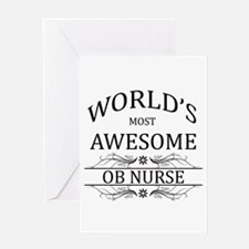 World's Most Awesome OB Nurse Greeting Card