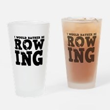 'Rather Be Rowing' Drinking Glass
