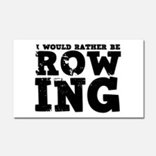'Rather Be Rowing' Car Magnet 20 x 12