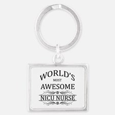 World's Most Awesome NICU Nurse Landscape Keychain