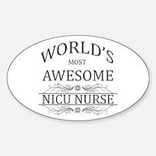 World's Most Awesome NICU Nurse Sticker (Oval)