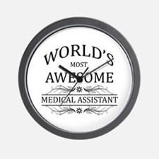 World's Most Awesome Medical Assistant Wall Clock