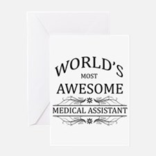 World's Most Awesome Medical Assistant Greeting Ca