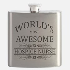 World's Most Awesome Hospice Nurse Flask