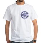Masonic Blue Lodge Crystal Burst White T-Shirt