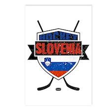 Hockey Hokej Slovenia Shield Postcards (Package of