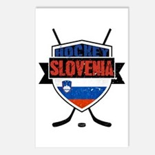 Hockey Hokej Slovenia Shield Postcards (Package of