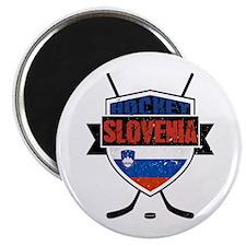 Hockey Hokej Slovenia Shield Magnet