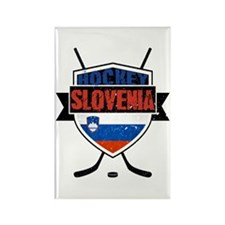 Hockey Hokej Slovenia Shield Rectangle Magnet