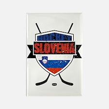 Hockey Hokej Slovenia Shield Rectangle Magnet