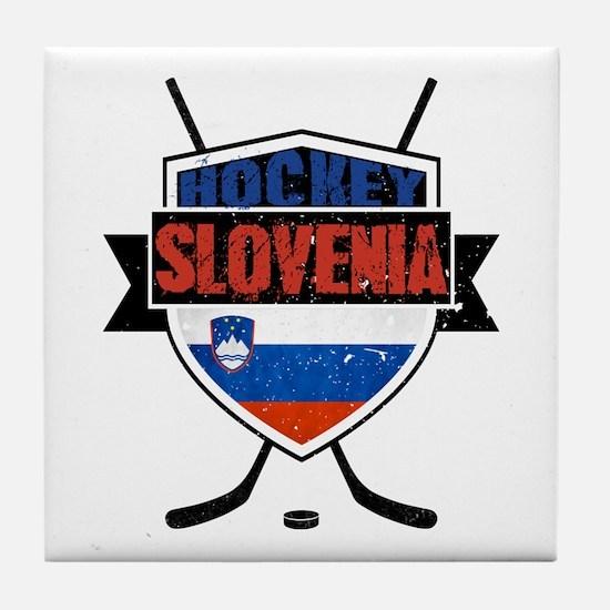 Hockey Hokej Slovenia Shield Tile Coaster