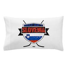 Hockey Hokej Slovenia Shield Pillow Case