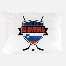 Hockey Hokej Slovenia Shield Pillow Case