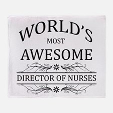 World's Most Awesome Director Of Nurses Throw Blan