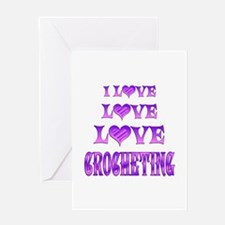 Love Love Crocheting Greeting Card