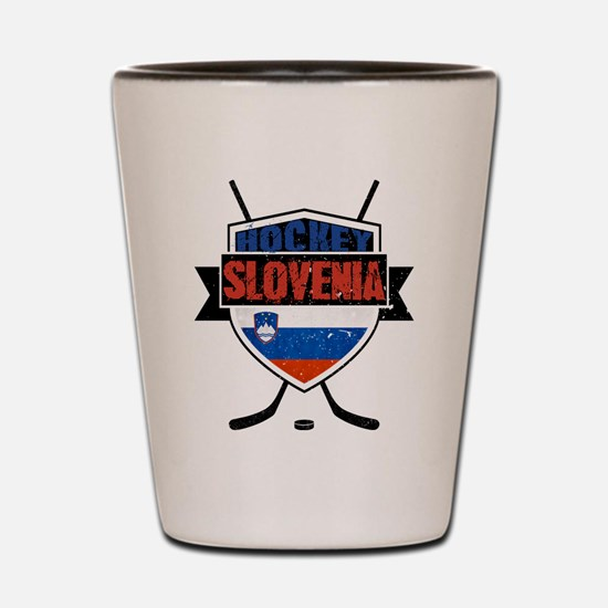 Hockey Hokej Slovenia Shield Shot Glass