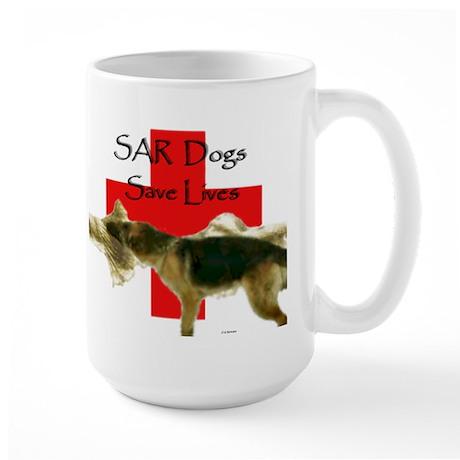SAR Dogs Save Lives... Large Mug