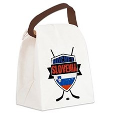 Hockey Hokej Slovenia Shield Canvas Lunch Bag