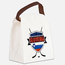 Hockey Hokej Slovenia Shield Canvas Lunch Bag