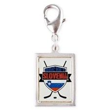 Hockey Hokej Slovenia Shield Charms