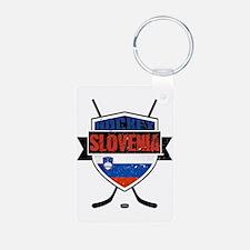 Hockey Hokej Slovenia Shield Keychains