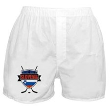 Hockey Hokej Slovenia Shield Boxer Shorts