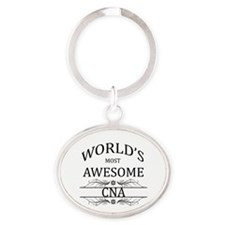 World's Most Awesome CNA Oval Keychain