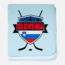 Hockey Hokej Slovenia Shield baby blanket