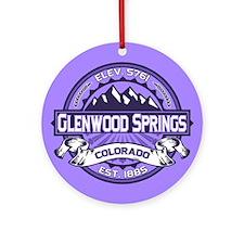 Glenwood Springs Purple Ornament (Round)