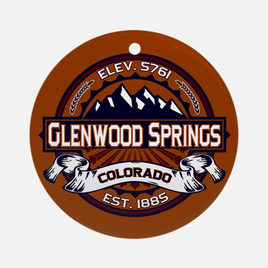 Glenwood Springs Vibrant Ornament (Round)