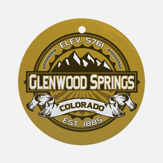 Glenwood Springs Gold Ornament (Round)