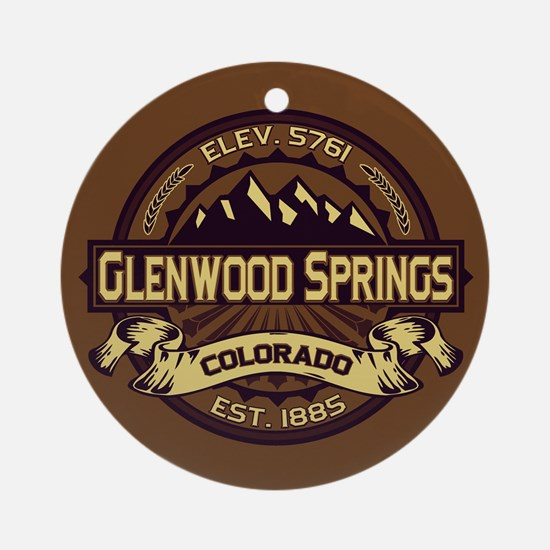 Glenwood Springs Sepia Ornament (Round)