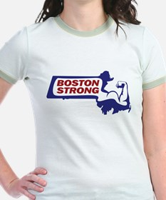 Boston Strong Bicep Red/White/Blue T-Shirt