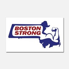 Boston Strong Bicep Red/White/Blue Car Magnet 20 x