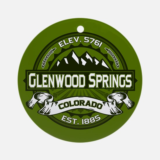 Glenwood Springs Olive Ornament (Round)