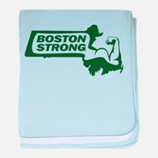 Boston Strong Bicep Green baby blanket