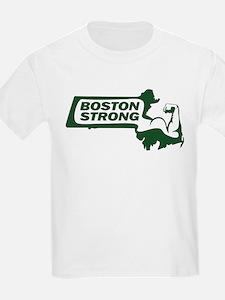 Boston Strong Bicep Green T-Shirt