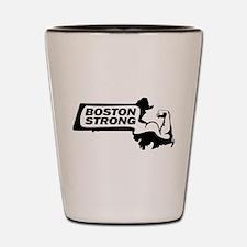 Boston Strong Bicep Black Shot Glass
