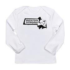 Boston Strong Bicep Black Long Sleeve T-Shirt