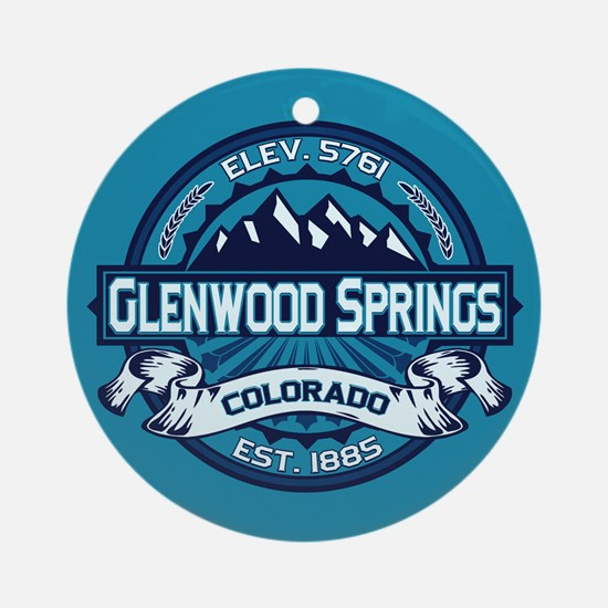Glenwood Springs Ice Ornament (Round)