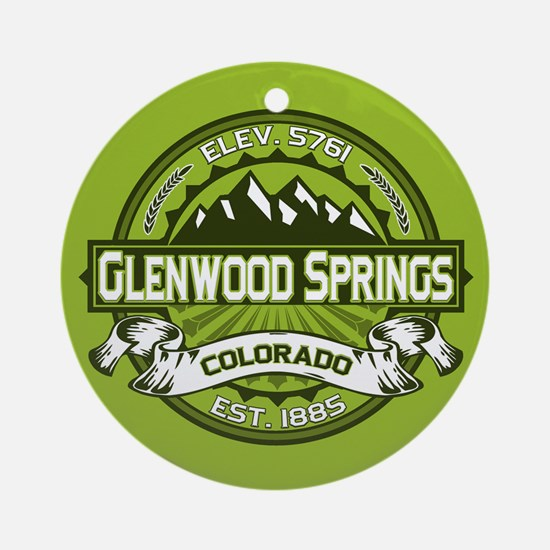 Glenwood Springs Green Ornament (Round)