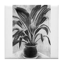 Charcoal Houseplant Tile Coaster