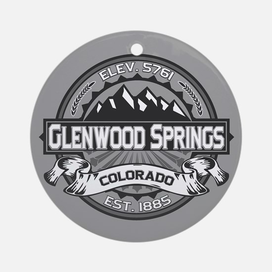 Glenwood Springs Gray Ornament (Round)