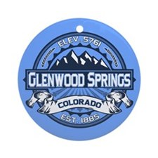 Glenwood Springs Blue Ornament (Round)