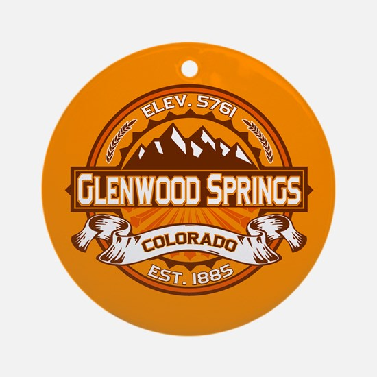 Glenwood Springs Tangerine Ornament (Round)