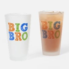 Sketch Style Big Bro Drinking Glass